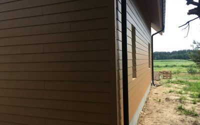 Cedar- deska włóknocementowa – zakończenie prac na elewacji.