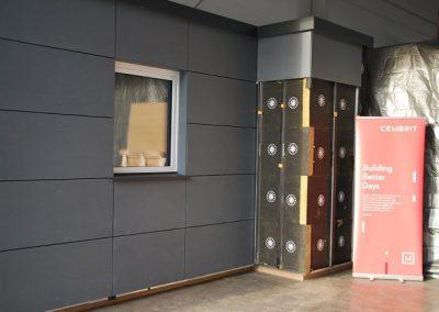 Gotowa ściana na podkonstrukcji aluminiowej,